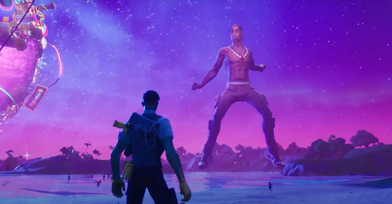 Concierto Fortnite Travis Scott